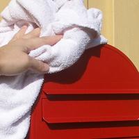 Large capacity Bobi letterbox Red maintenance