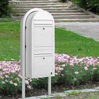 Bobi Duo freestanding multi-occupancy post box